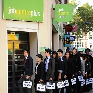 Youth unemployment among 15 to 24-year-olds has risen by 35 per cent between 2008 and 2011