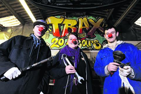 Witney Gazette: Trax project worker Helen Bates with Taylor Fleming, 16, and Matthew Earl, 17    Picture: OX57090 Jon Lewis