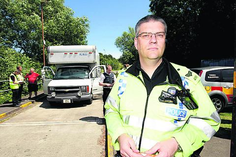 Thames Valley Police road safety sergeant Chris Appleby