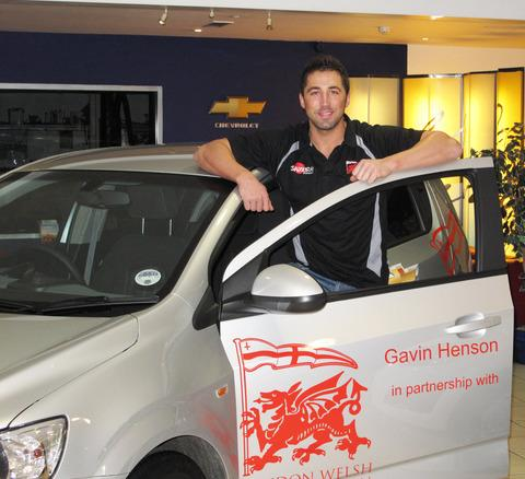 Gavin Henson collects his car from County Chevrolet in Bicester