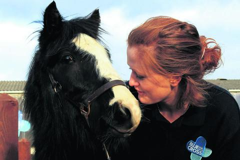 Laura Pearce pictured with Duke. Picture: OX57169 Ric Mellis