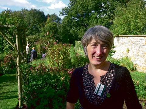 Julie Charlesworth in the garden at Chastleton House. Picture: John Hackston