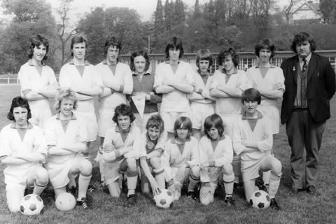 The Witney & District youth football team which played in Belgium in the mid-1970s