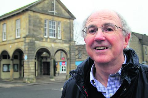 Ian Morrow, pictured outside Witney Town Hall has retired from the planning department at West Oxfordshire District Council. Picture: OX57343 Ric Mellis