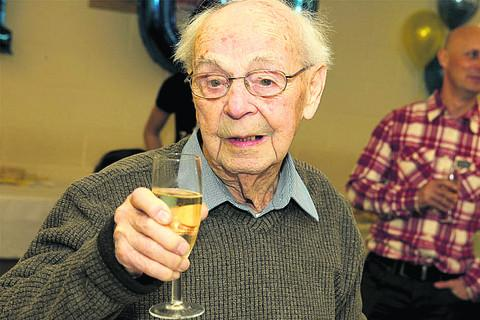 Tom Thomas, from Burford, celebrating his 100th birthday on Sunday