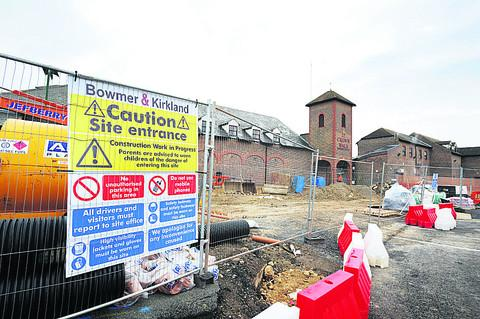 WORK BEGINS: Construction starting in Bicester town centre in January last year