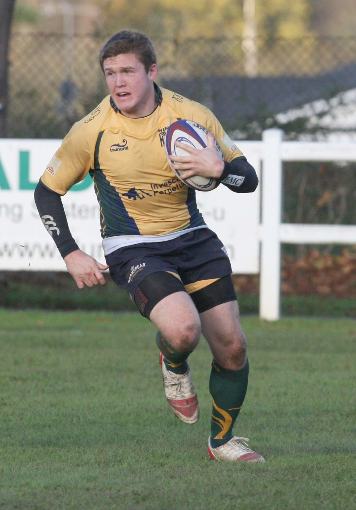 Henley's Tom Allen scored two tries after coming off the bench against Taunton