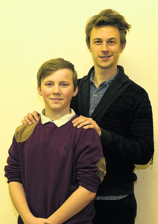 Leading roles . . . Joe Clinton, 14, left, plays Oliver, and James White takes the role of the Artful Dodger