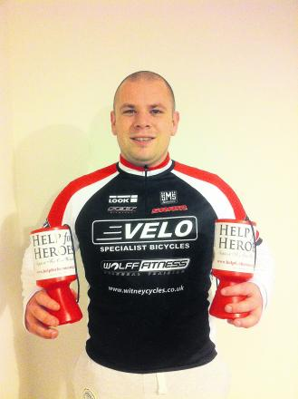Thomas Richards with Help for Heroes collecting tins