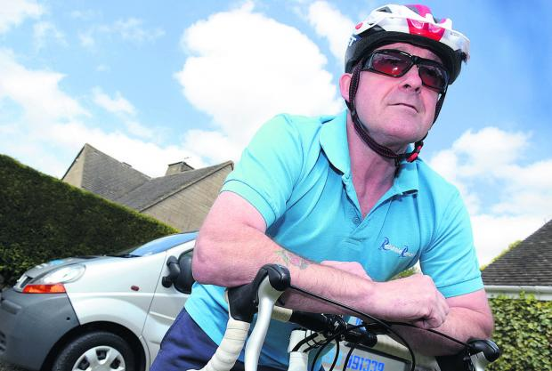 Andrew Bacon is training hard for the Pink Ribbonride