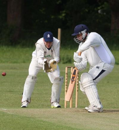 Wes Bartlett hit 46 for Oxford Downs in the thrilling tie at Banbury 2nd