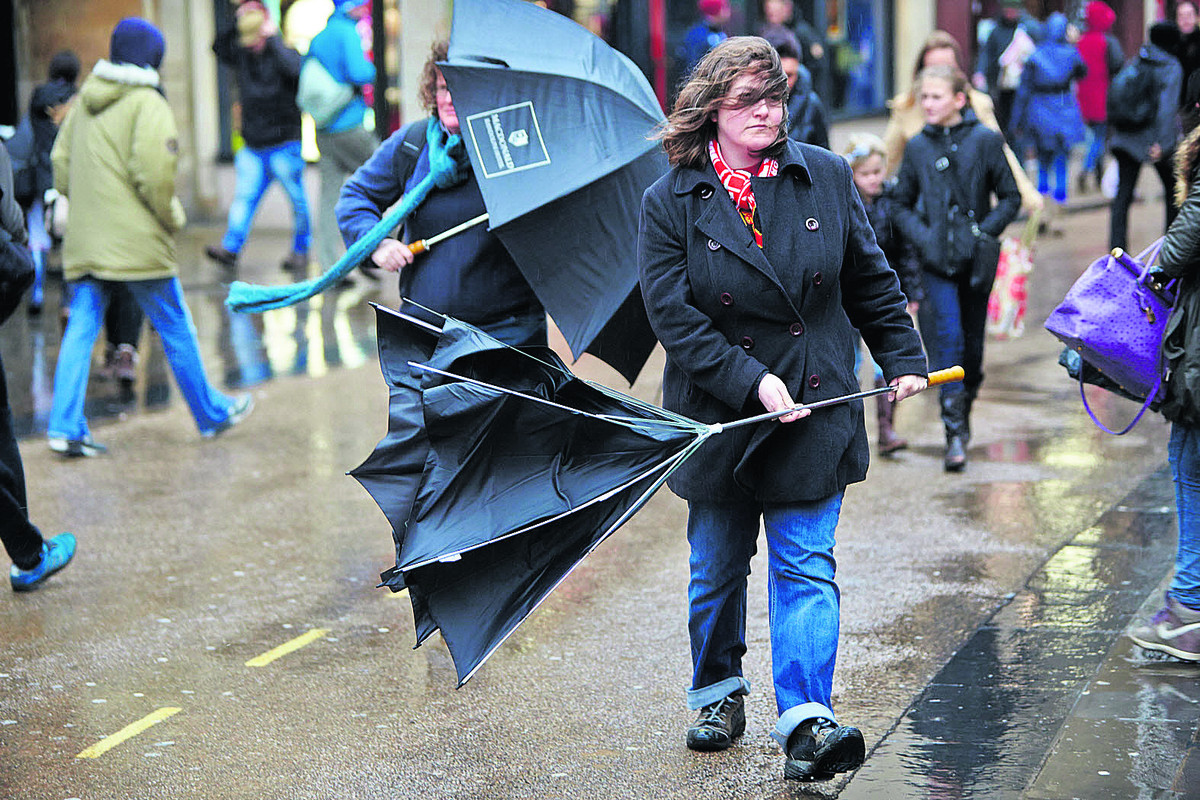 Wet and windy weather forecast for Bank Holiday Monday (stock image)