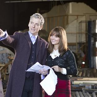 Witney Gazette: Actor Peter Capaldi admitted feeling nervous as he started work as the new Doctor Who with co-star Jenna Coleman