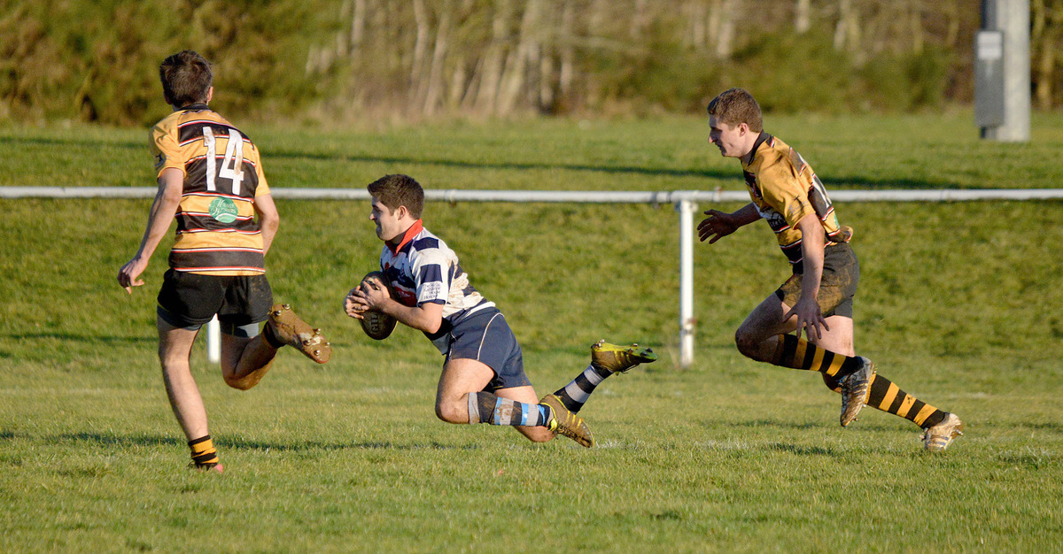 Banbury's Josh Deegan goes over during their 48-7 victory