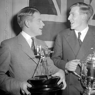 Witney Gazette: Sir Christopher Chataway, left, with Roger Bannister, was BBC Sports Personality of the Year in 1954