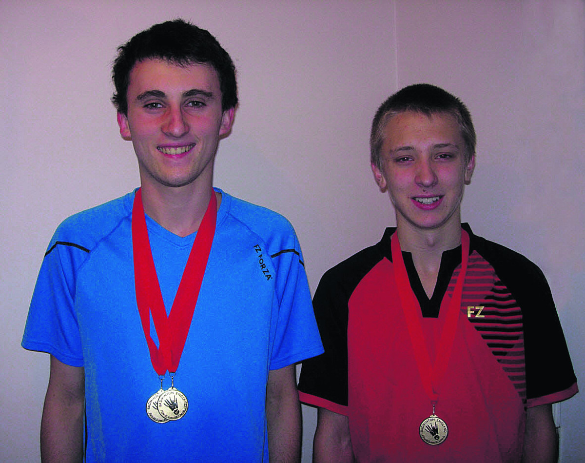 Joe Roberts (left) and Ashley Harrison pictured with their medals