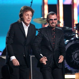 Beatles Paul and Ringo reunite