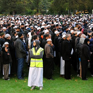Hundreds of people attended funeral prayers for Shehnila Taufiq and her three teenage children