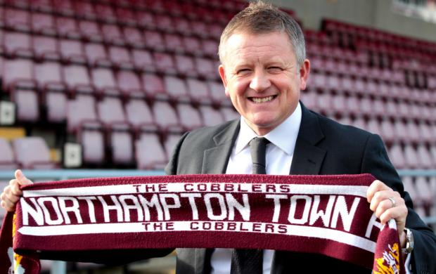 Chris Wilder is unveiled as the new Northampton Town manager at Sixfields yesterday Picture: Kirsty Edmonds