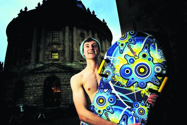 Witney Gazette: Francis Thomas, 19, has made it through to the  final 10 in the bid to represent Great Britain at the Naked Sledding World Championships. Main picture:  OX64942 Ed Nix