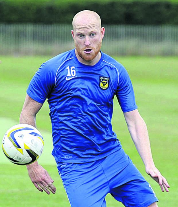 Witney Gazette: Andy Whing faces a fitness battle to be ready for Oxford United's away clash at Plymouth tomorrow