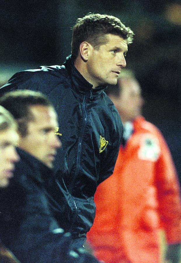 Witney Gazette: Mickey Lewis looks on as caretaker in 1999