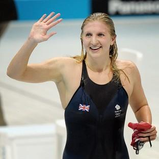 Olympic medal-winning swimmers Becky Adlington and Michael Jamieson battled their way to a Guinness World Record 100 x 100m swimming relay title to raise tens of thousands of pounds for cancer research