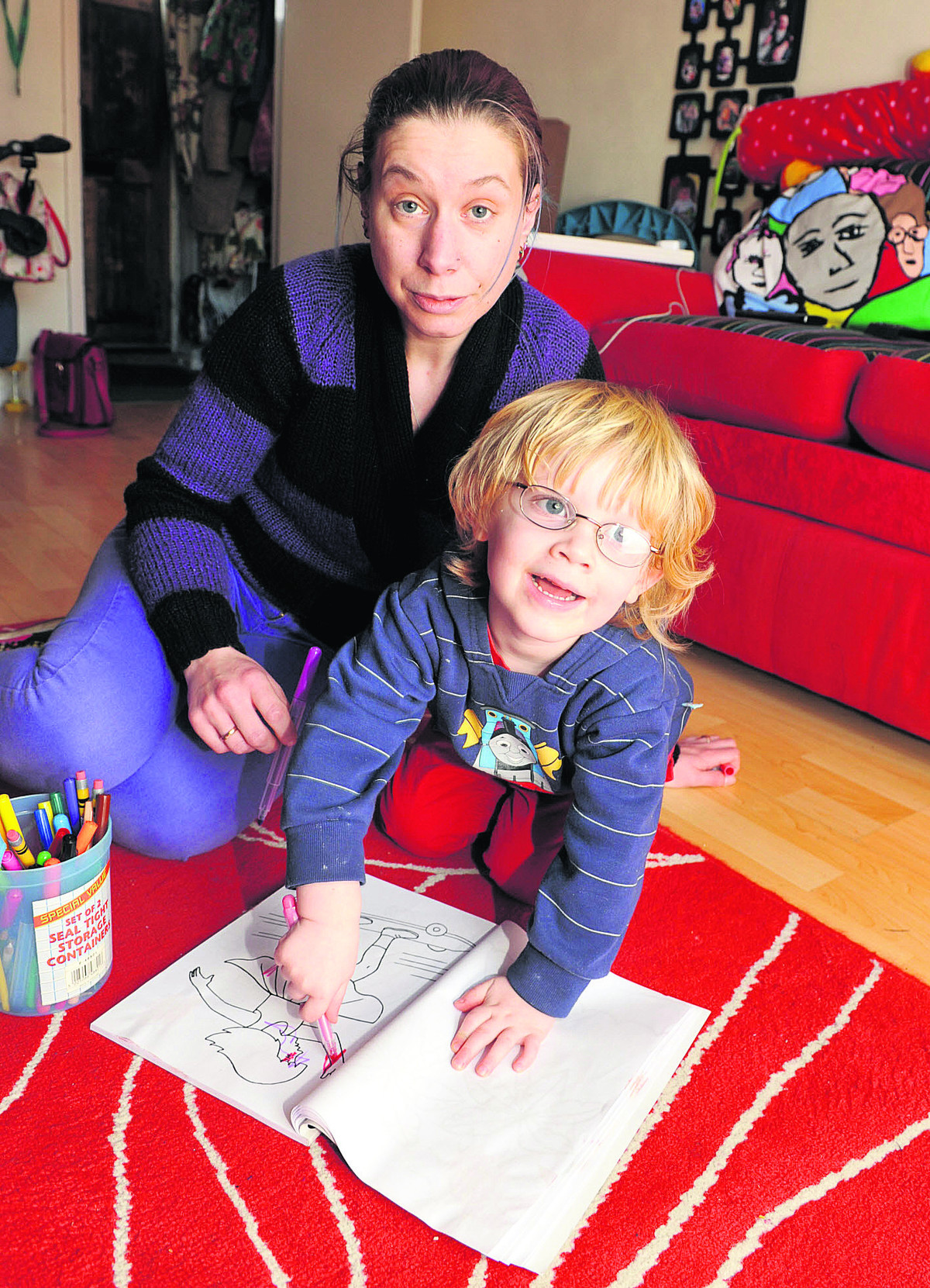 Katrina Brooks says she is struggling to find a nursery place for her son Jonah with news that Early Steps pre-school, based at St John the Evangelist Church. Picture: OX65084 Denis Kennedy