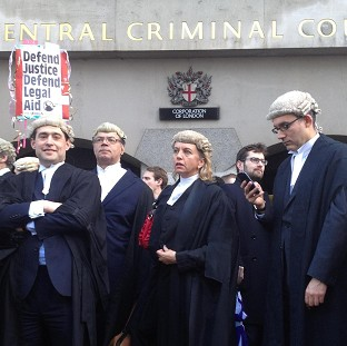 Barristers around the country previously staged a walk-out over legal aid cuts.