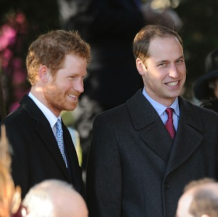Prince Harry and the Duke of Camb