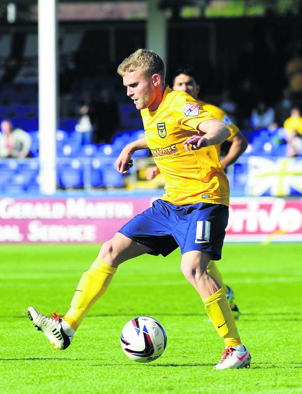 Witney Gazette: Alfie Potter's eager to get back after three months out with a broken ankle