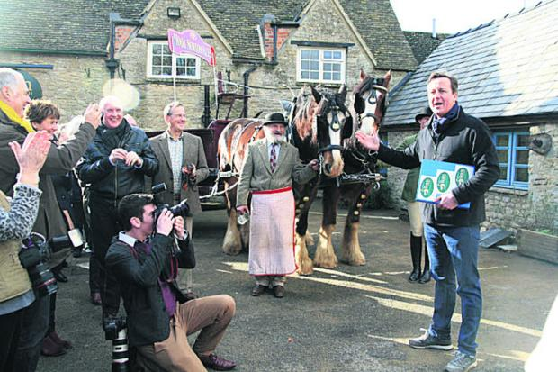 David Cameron opens The Swan pub at Ascott-under-Wychwood