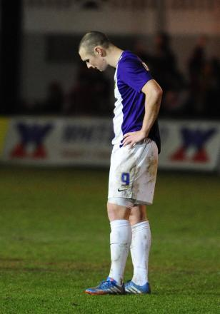 James Constable looks dejected at the final whistle