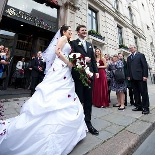 Witney Gazette: Louisa Hodkin and Alessandro Calcioli have become the first couple in Britain to tie the knot at the Church of Scientology