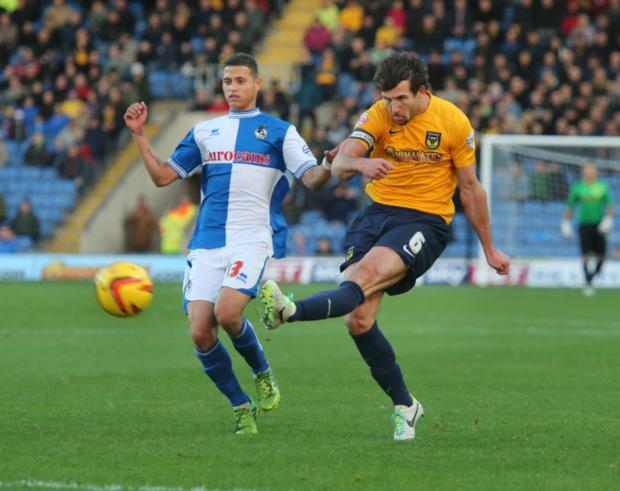 Jake Wright in action against Bristol Rovers