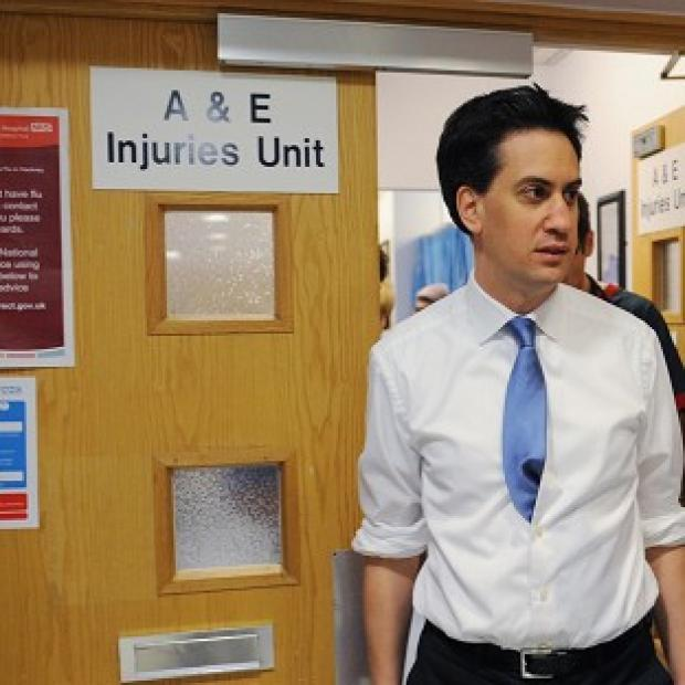 Witney Gazette: Ed Miliband said Labour's health plan would give NHS patients a greater say on their care