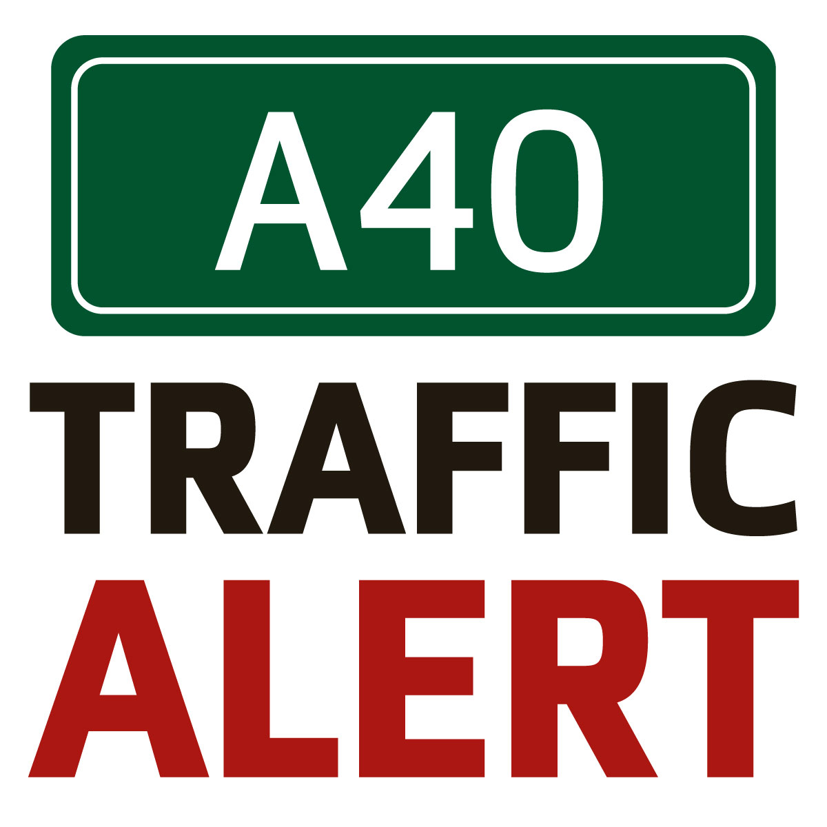 Two mile queues on the A40