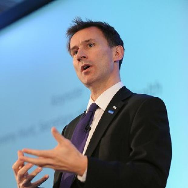 Witney Gazette: Health Secretary Jeremy Hunt claims care failures in Wales are increasing pressure on casualty departments in England