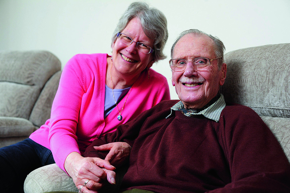John Rowing, with daughter Jane Jelleyman, has visits from a carer as part of a new scheme to help people stay at home and be cared for rather than take up hospital beds