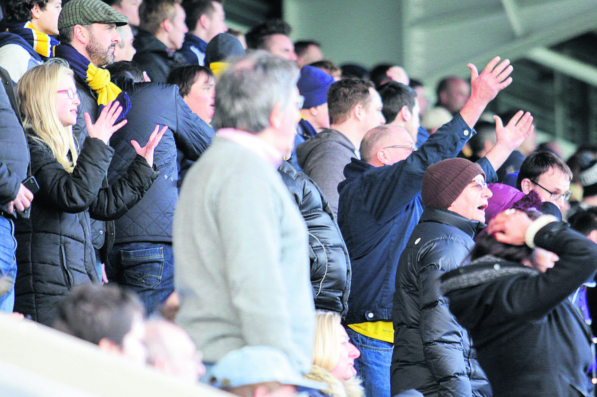 Oxford United fans show their frustration at Chesterfield on Saturday