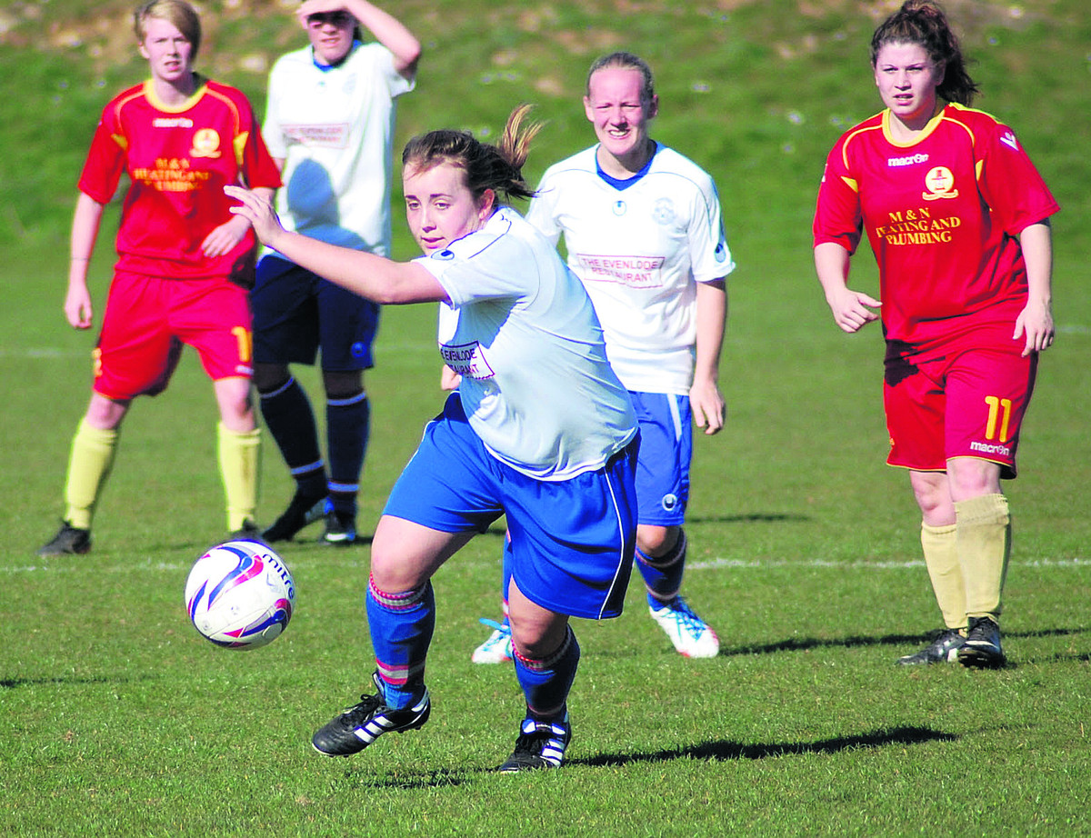 Tower Hill's Ellen Hopkins goes forward in the 1-0 defeat at home to Banbury