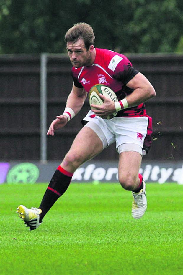 Witney Gazette: Seb Jewell is playing at full back for London Welsh
