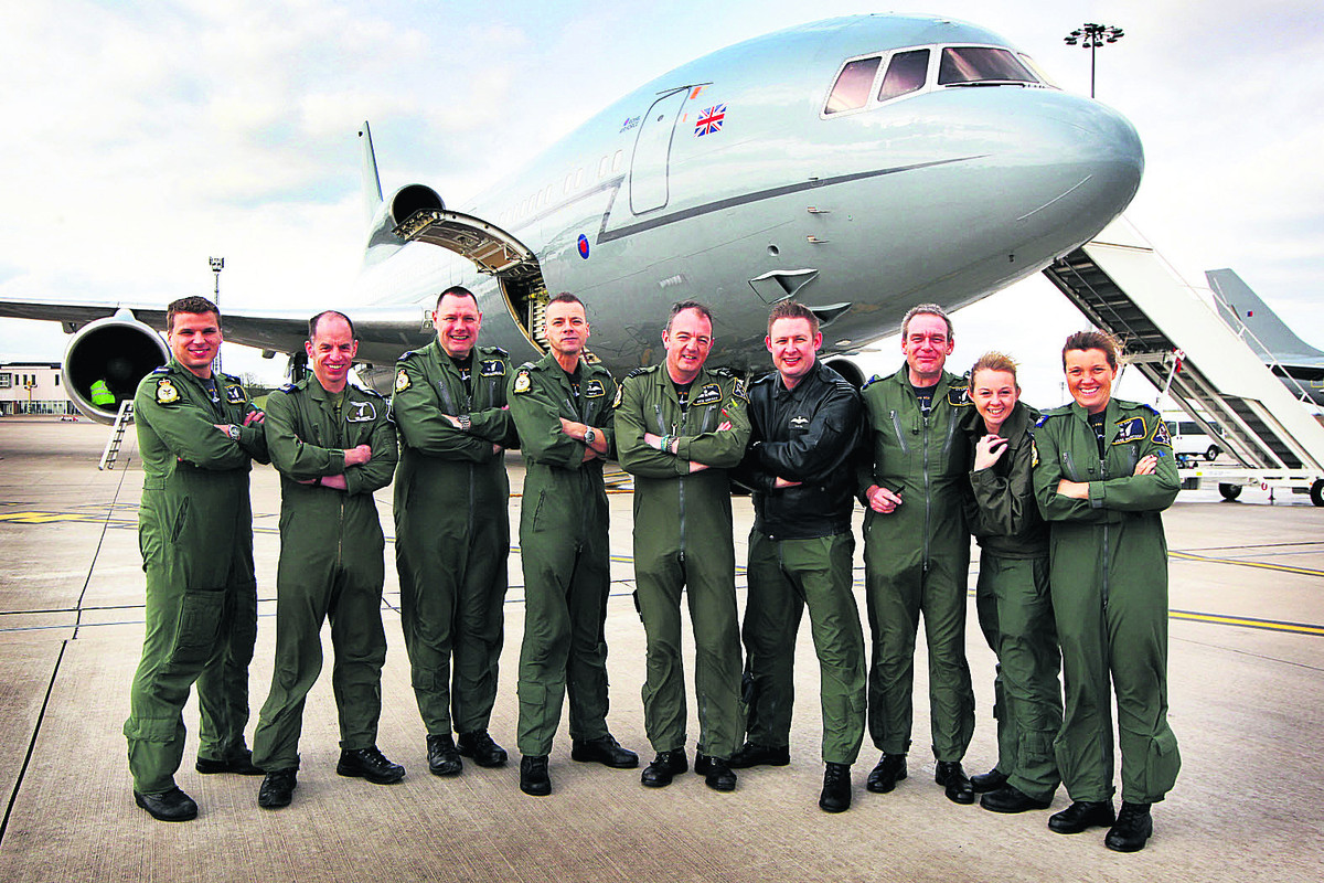 RAF bids farewell to trademark TriStar jets