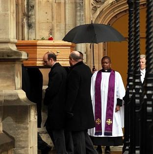 Witney Gazette: Tony Benn's coffin arrives at the Palace of Westminster to be placed in the Chapel of St Mary Undercroft.