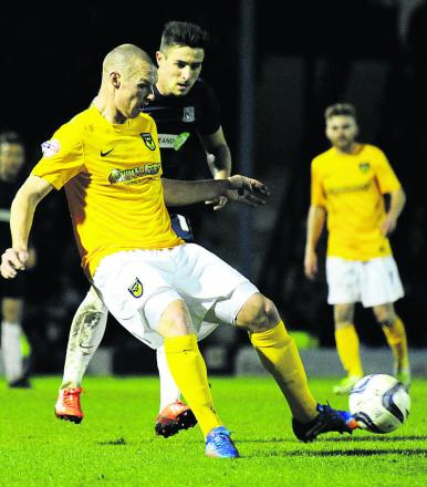 James Constable, pictured in action at Southend on Monday, is one of a number of Oxford United players out of contract this summer