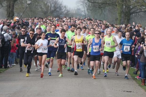 RECORD-BREAKER: Hundreds of runners set off at the start of the OX5 run