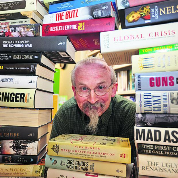 Witney Gazette: Tony Cooper with some of the books