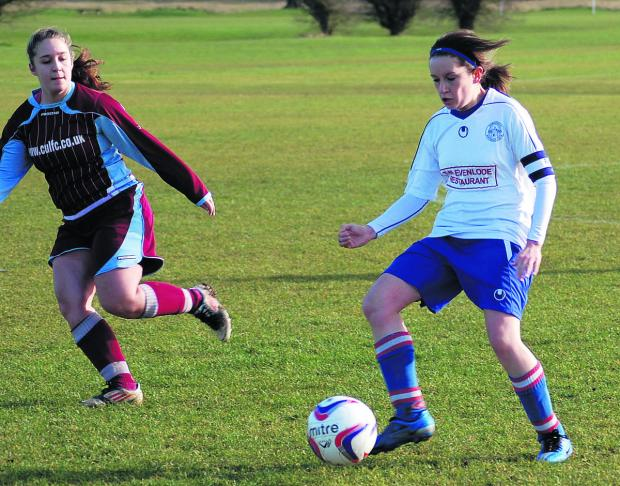 Lisa Freeman scored four of Tower Hill Ladies' goals in their amazing 7-6 comeback win against Marlow