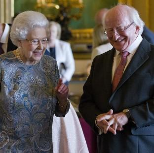 Witney Gazette: The Queen and Irish president Michael D Higgins in Windsor Castle