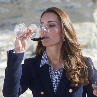 Witney Gazette: The Duchess of Cambridge told wine-makers she was really enjoying being able to drink again after giving birth.